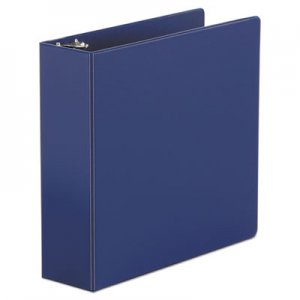 "Genpak Economy Non-View Round Ring Binder, 3 Rings, 3"" Capacity, 11 x 8.5, Royal Blue UNV30408"