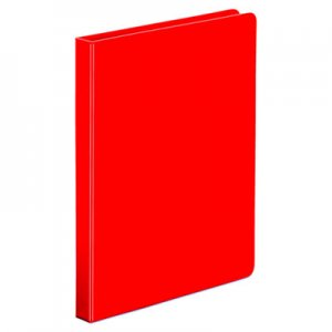 "Genpak Economy Non-View Round Ring Binder, 3 Rings, 0.5"" Capacity, 11 x 8.5, Red UNV30403"