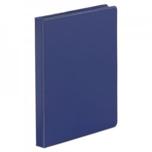 "Genpak Economy Non-View Round Ring Binder, 3 Rings, 0.5"" Capacity, 11 x 8.5, Royal Blue UNV30402"