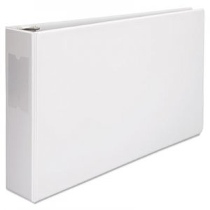 "Genpak Ledger-Size Round Ring Binder with Label Holder, 3 Rings, 3"" Capacity, 11 x 17, White UNV35424"