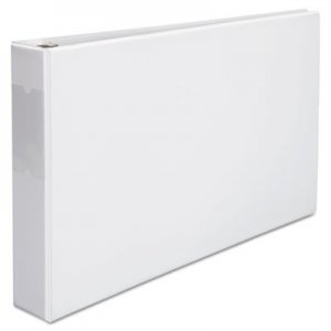 "Genpak Ledger-Size Round Ring Binder with Label Holder, 2"" Capacity, 11 x 17, White UNV35422"