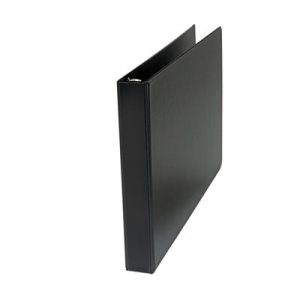 "Genpak Ledger-Size Round Ring Binder with Label Holder, 1"" Capacity, 11 x 17, Black UNV35419"
