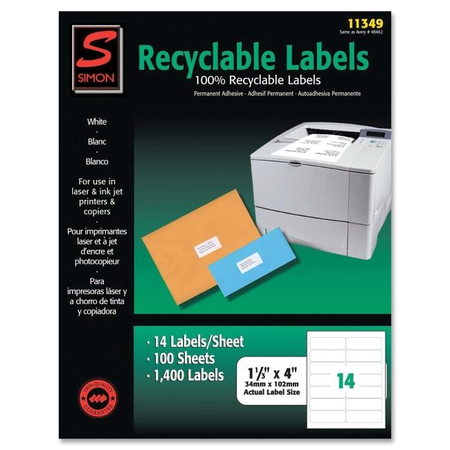 Simon Marketing Recyclable Address Label SL11349 SJPSL11349