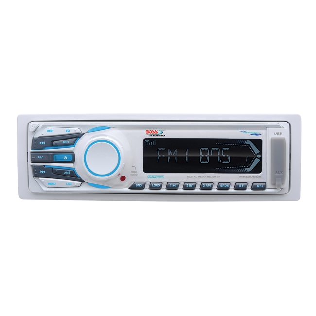 Boss Audio MP3 Compatible Solid State AM/FM Receiver, USB/SD, AUX-Input MR1306UA