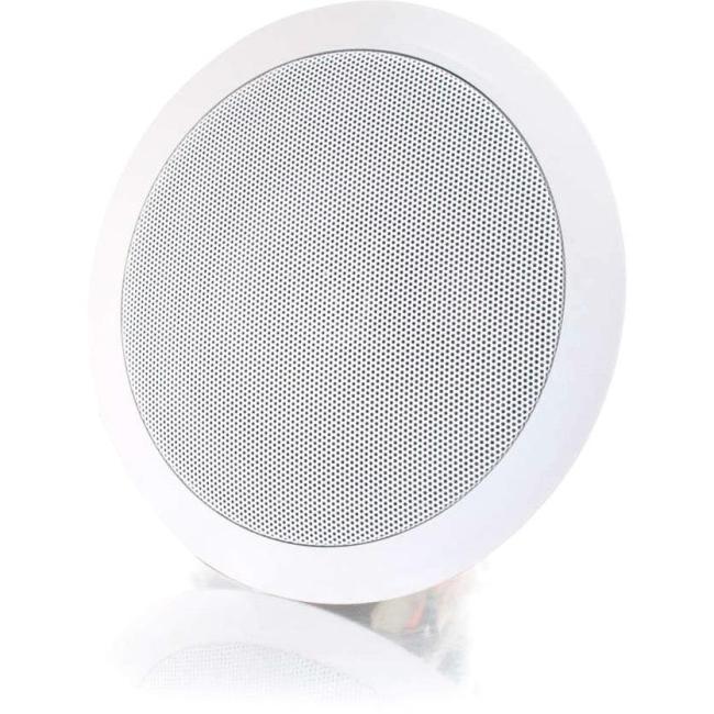 C2G 5in Ceiling Speaker 70v - White (Each) 39907