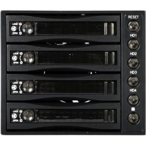 "iStarUSA 3x5.25"" to 4x3.5"" SAS/SATA 6.0 Gb/s Hot-Swap Cage BPU-340SATA-BLACK BPU-340SATA"
