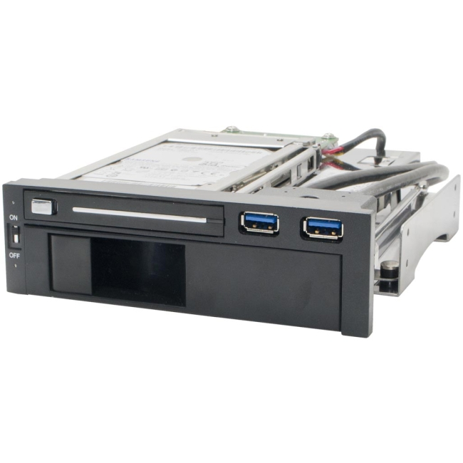"SYBA Multimedia 5.25"" Dual Bay Mobile Rack for both 2.5"" and 3.25"" SATA HDD SY-MRA55006"