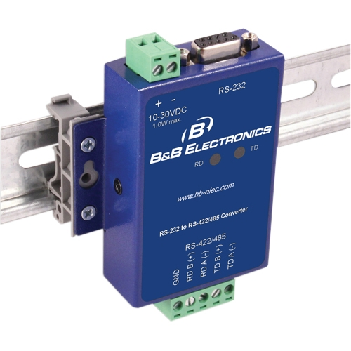 B+B Non-Isolated RS-232 To RS-422/485 Panel Mount Converter, Wide Temperature SCP211T-DFTB3