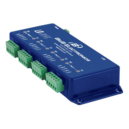 B+B USB To Isolated Serial 4 Port RS-422/485 W/Tb USOPTL4-4P