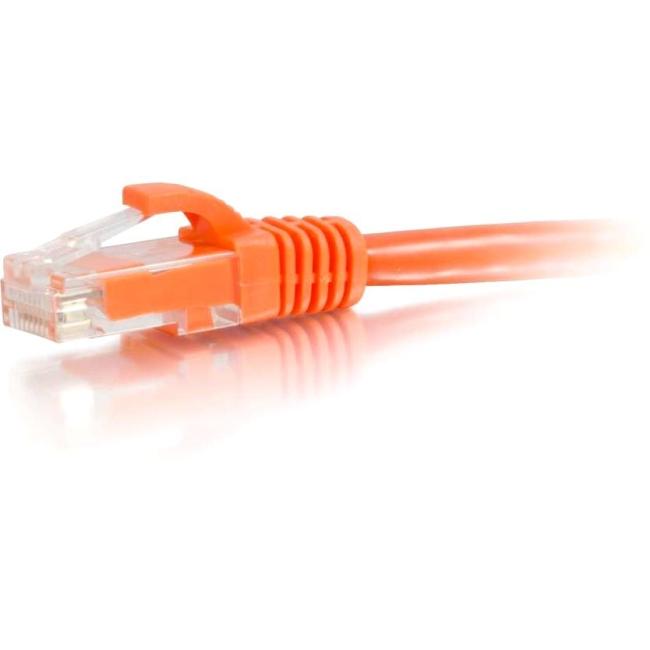 C2G 50 ft Cat5e Snagless UTP Unshielded Network Patch Cable - Orange 00457