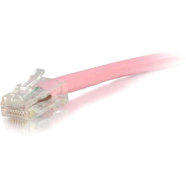 C2G 2 ft Cat5e Non Booted UTP Unshielded Network Patch Cable - Pink 00618