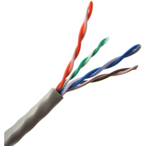 Weltron 1000ft Cat5E UTP 350MHz Stranded PVC CMR Cable - Ash T2404L5EPA-AH