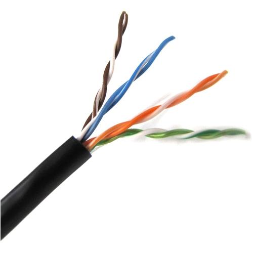 Weltron 1000ft Cat5E UTP 350MHz Stranded PVC CMR Cable - Black T2404L5EPA-BK
