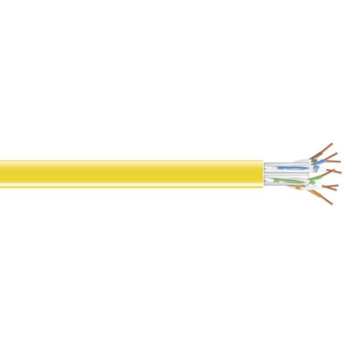 Black Box CAT5e Value Line Solid Bulk Cable, CM, 1000-ft. (304.8-m), Yellow C5E-CM-SLD-YL