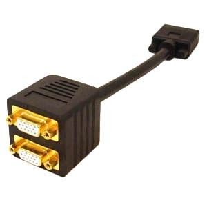 AddOn VGA Video Splitter Cable - 2 Port - Male to Female/Female VGASPLMFF
