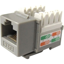 Weltron Cat6 Gray 110 Keystone Punch Down Jack 44-678C6-GY