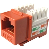 Weltron 8P8C Orange Cat5E 568A/B Keystone Punch Down Jack 44-678OR