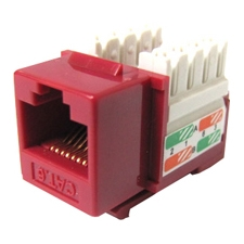 Weltron 8P8C Red Cat5E 568A/B Keystone Punch Down Jack 44-678RD