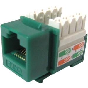Weltron Cat6 Green 110 Keystone Punch Down Jack 44-678C6-GN