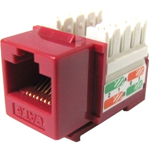 Weltron Cat6 Red 110 Keystone Punch Down Jack 44-678C6-RD
