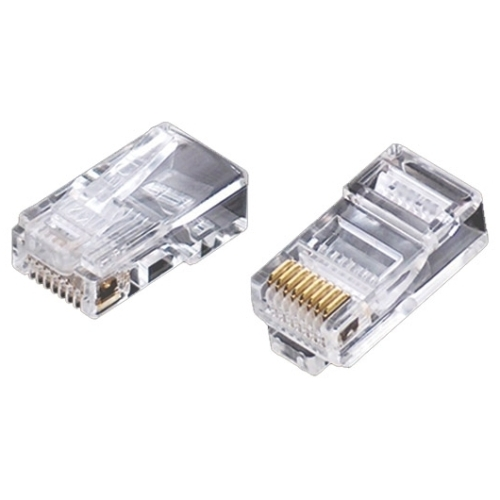 Weltron RJ-45, 8P8C, Modular Plug for Cat6 Rated Cable w/ Loading Bar 44-751-8LB6N