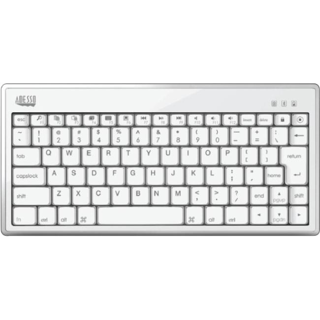 Adesso Bluetooth 3.0 Mini Keyboard 1010 for iPad WKB-1010BW