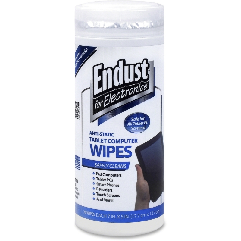 Endust Anti-Static Tablet Wipes 70ct. 12596 END12596
