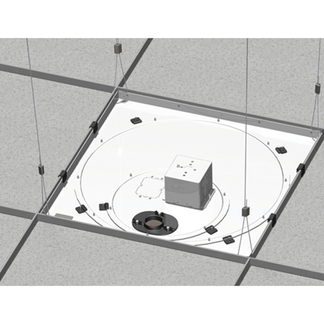 Chief Speed-Connect Suspended Ceiling Tile Replacement Kit with Power Outlet Housing CMS445N