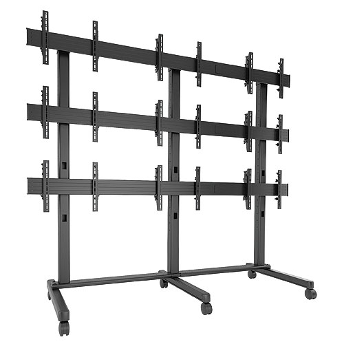 Chief FUSION 3 x 3 Micro-Adjustable Large Freestanding Video Wall LVM3X3U