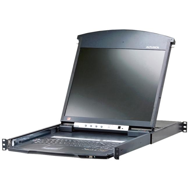 Aten 8-Port 17in. Dual Rail CAT5 LCD KVM Over the Net KL1508AiM