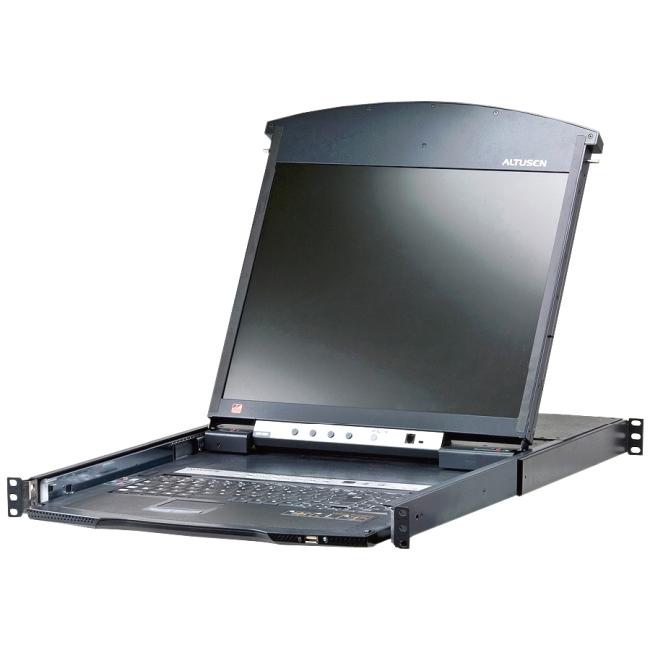 Aten 8-Port 19in. Dual Rail CAT5 LCD KVM Over the Net KL1508AiN