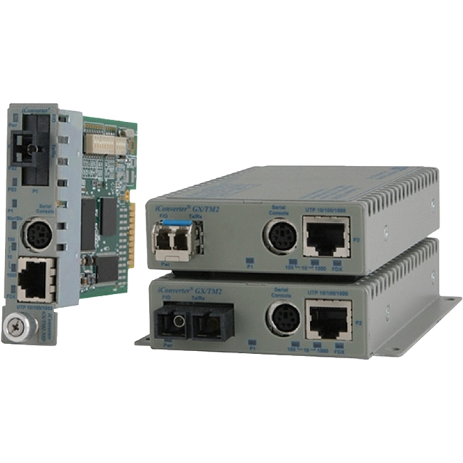 Omnitron 10/100/1000BASE-T UTP to 1000BASE-X Media Converter and Network Interface Device 8927N-1-BW