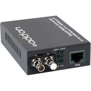 AddOn 1000Base-TX To 1000Base-BXU ST BiDi 20km SMF Media Converter ADD-GMC-BX-UST