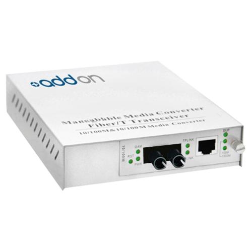 AddOn 100Base-TX To 100Base-FX MMF ST 1310nm 2km Media Converter ADD-MFMC-FX-ST