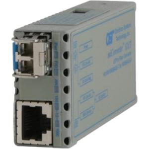 Omnitron 10/100/1000BASE-T to 1000BASE-X Ethernet Media Converter 1223-1-1W