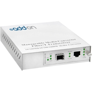 AddOn 100Base-TX To Open SFP Port Managed Media Converter ADD-MFMC-SFP