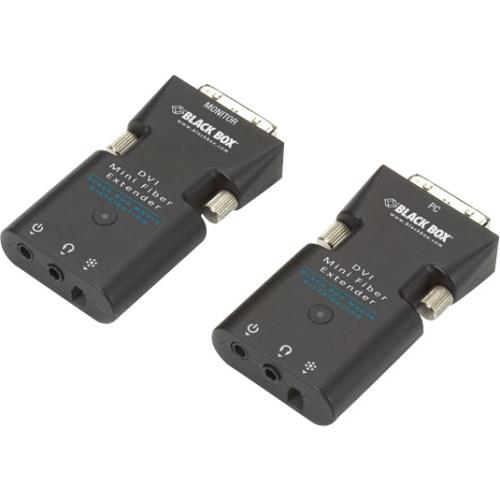 Black Box Mini Extender Kit for DVI-D and Stereo Audio over Fiber AVX-DVI-FO-MINI