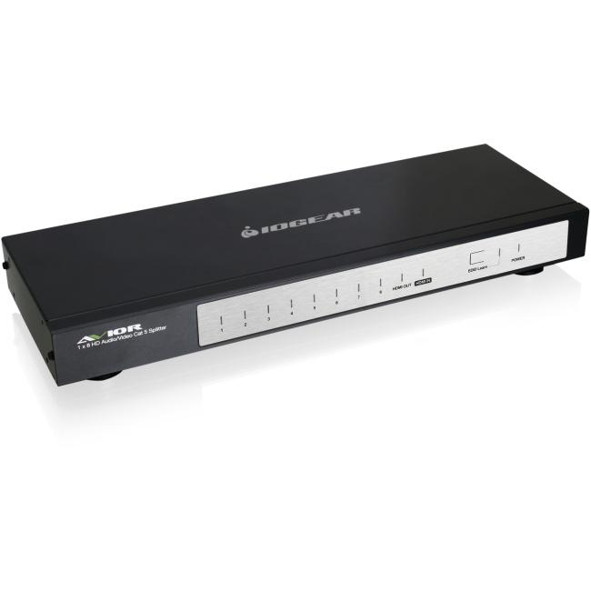 Iogear 4/8-Port HD Audio/Video Cat 5e/6 Splitter GHSP8214E
