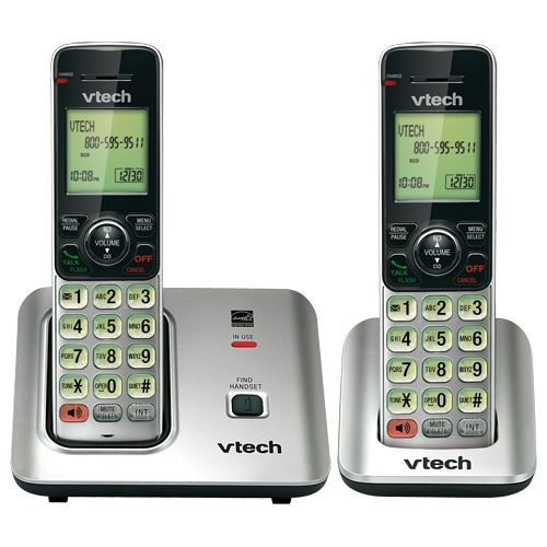 VTech 2 Handset Cordless Phone with Caller ID/Call Waiting CS6619-2