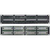 4XEM 48 Port CAT5E Rackmount Patch Panel 4XRMC5EPP48