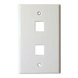 4XEM 2 Outlet RJ45 Wall Plate/ Face Plate White 4XFP02KYWH