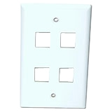 4XEM 4 Outlet RJ45 Wall Plate/ Face Plate White 4XFP04KYWH