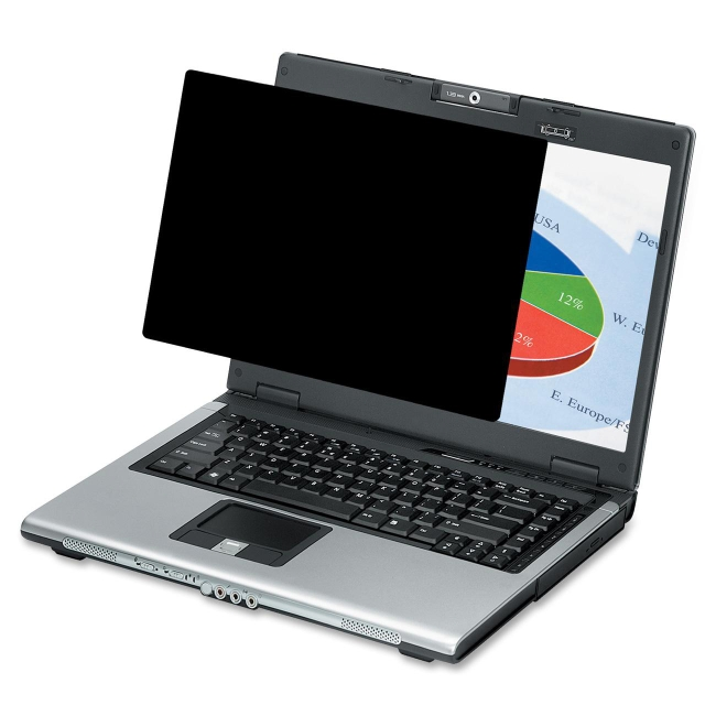 """Fellowes Laptop/Flat Panel Privacy Filter - 15.6"""" W 4802001"""