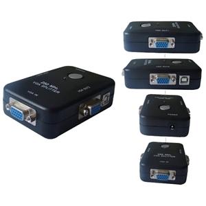 4XEM Plastic VGA Splitter 1input 2 output, High Resolution:1920*1440. 250Mhz 4XVGASP2502