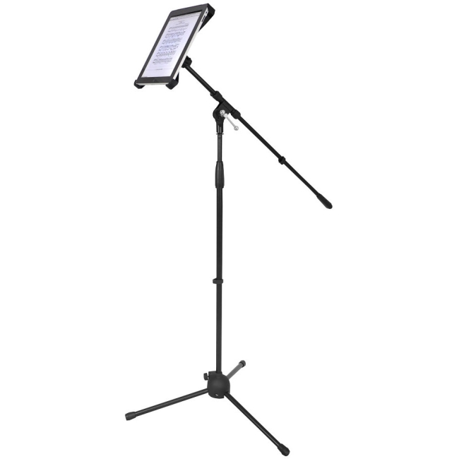 PylePro Multimedia Microphone Stand With Adapter for iPad 2 (Adjustable for Compatibility w/iPad 1) PMKSPAD1