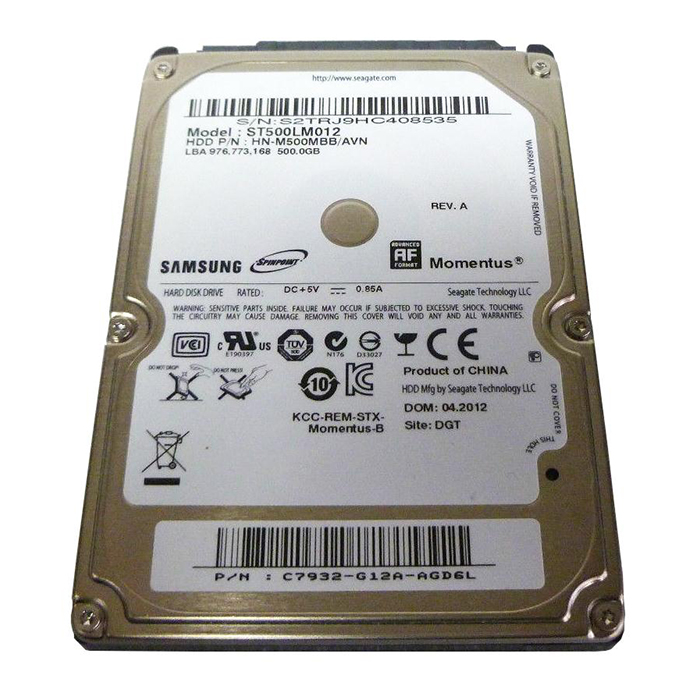 Seagate Spinpoint M8 Hard Drive ST500LM012