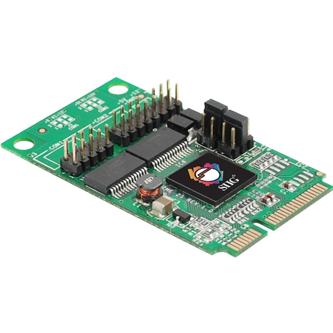 SIIG 2-Port RS232 Serial Mini PCIe with Power JJ-E20211-S1