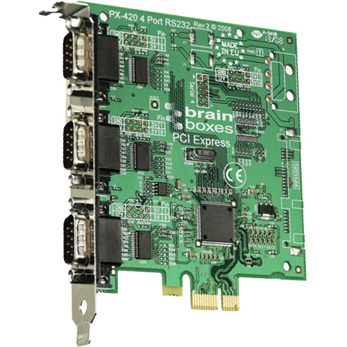 Brainboxes 3-port PCI Express Serial Adapter PX-431