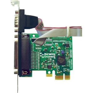 Brainboxes 1-port PCI Express Serial/Parallel Combo Adapter PX-475