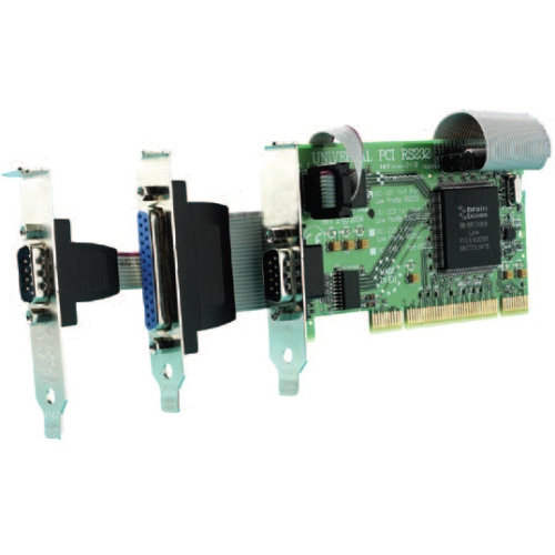 Brainboxes 2 Port RS232 Low Profile PCI Serial Port Card with LPT Parallel Port UC-203